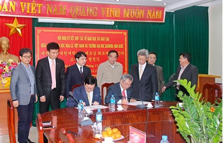 Hội nghị ký kết hợp tác về giáo dục, đào tạo quốc tế giữa trường Đại học Daewon Hàn Quốc và trường Đại học Hoa Lư Ninh Bình