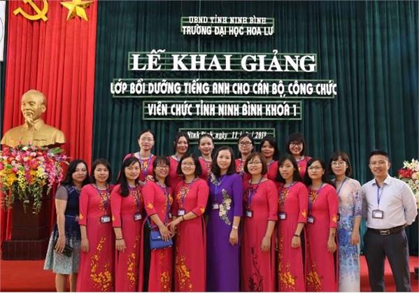 Khai giảng lớp bồi dưỡng tiếng Anh cho cán bộ, công chức, viên chức tỉnh Ninh Bình khóa I năm 2018