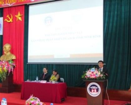 """Hội thảo """"đào tạo nguồn nhân lực gắn với sự phát triển du lịch của tỉnh ninh bình"""""""