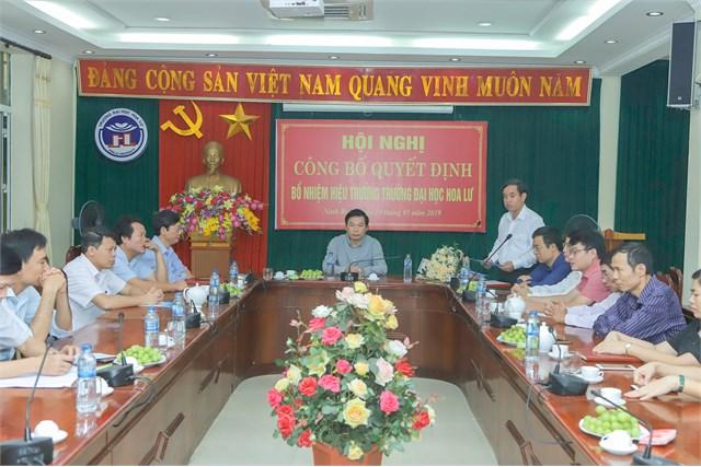 Hội nghị công bố và trao Quyết định bổ nhiệm Hiệu trường Trường Đại học Hoa Lư