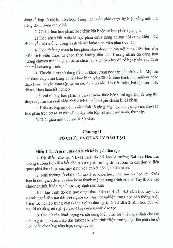 QUYẾT ĐỊNH VỀ VIỆC BAN HÀNH QUY CHẾ ĐÀO TẠO ĐẠI HỌC HÌNH THỨC VỪA LÀM VỪA HỌC THEO HỌC CHẾ TÍN CHỈ