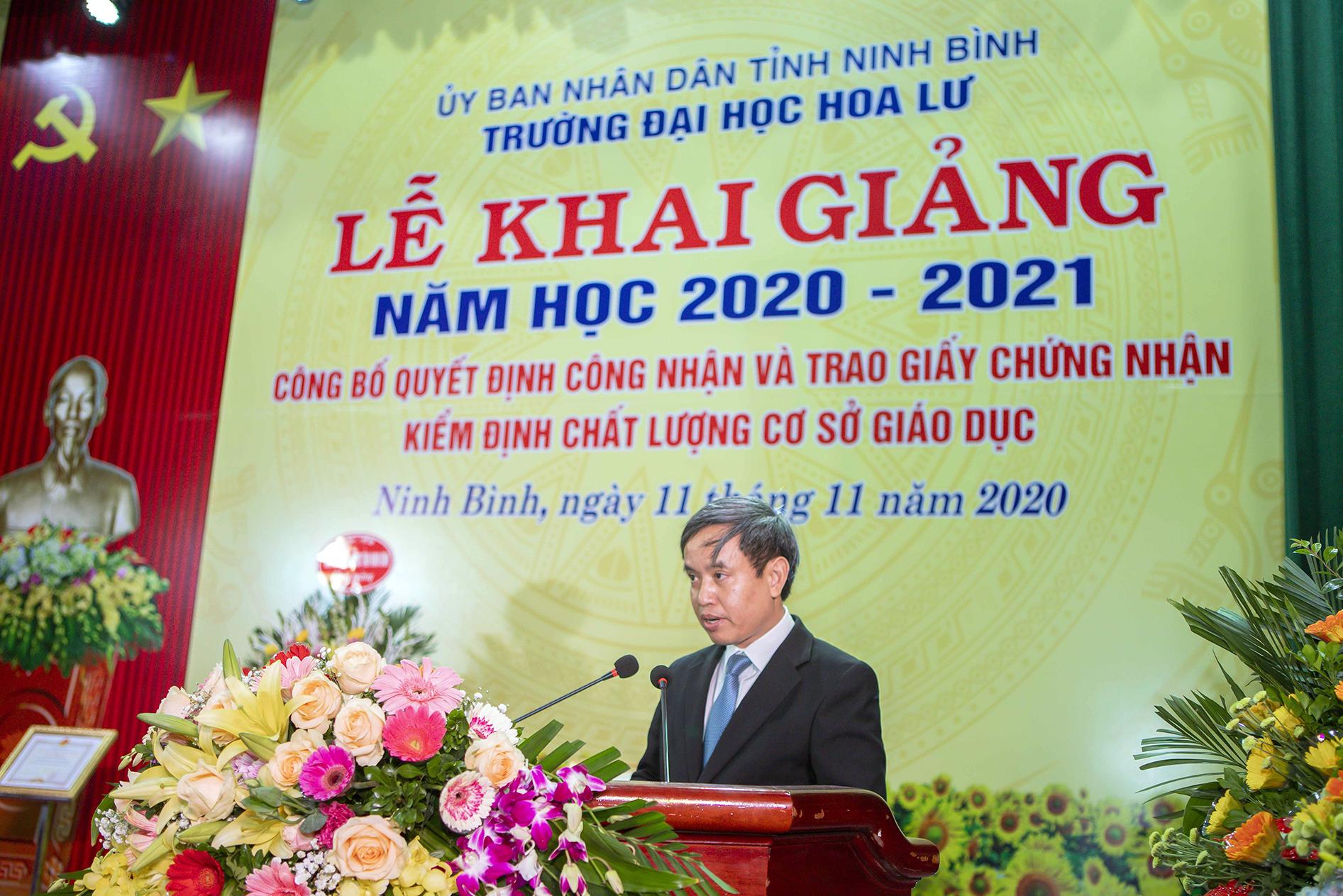LỄ KHAI GIẢNG NĂM HỌC 2020 - 2021; CÔNG BỐ QUYẾT ĐỊNH CÔNG NHẬN VÀ TRAO GIẤY CHỨNG NHẬN KIỂM ĐỊNH CHẤT LƯỢNG CƠ SỞ GIÁO DỤC